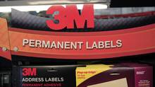 In this April 25, 2012 file photo, 3M's address labels are displayed for sale at Office Depot in Mountain View, Calif. (Paul Sakuma/Paul Sakuma/AP)