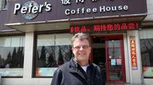 Kevin Garratt and his wife, Julia, are facing accusations by Chinese authorities of espionage and stealing state secrets.The Vancouver couple owns a coffee shop in Dandong, China. (Jack Chen For The Globe and Mail)