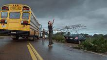 Into The Storm is attuned to the Old Testament. (Courtesy of Warner Bros. Picture)