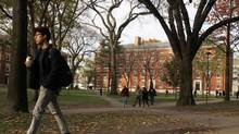 The financial outlook for all U.S. universities, including top-tier research institutions like Harvard, is now negative, according to Moody's. (JESSICA RINALDI/Reuters)