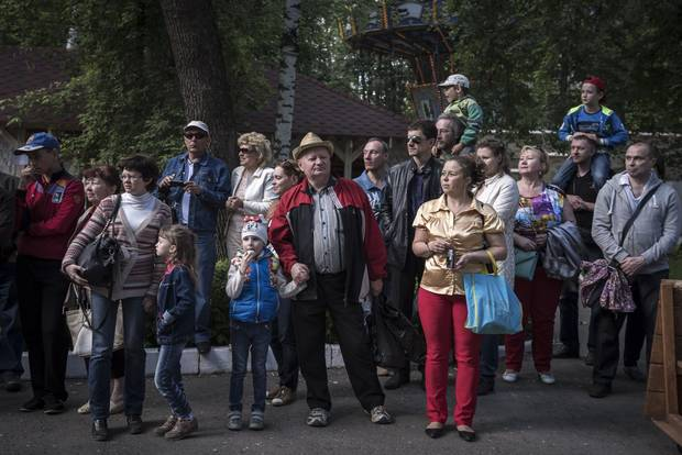 People at the park in Perm on June, 7, 2015.