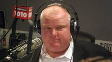 Toronto Mayor Rob Ford on air with his brother, Councillor Doug Ford, on May 26, 2013. (COURTESY OF NEWSTALK 1010)