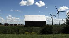 A wind farm in Chatham-Kent near Mitchells Bay, Ont. (Brent Foster/Brent Foster for The Globe and Mail)