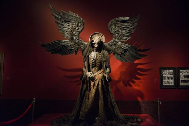 The exhibition contains 22 full-scale monster sculptures, including one life-size mannequin of