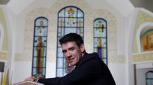 Andrew Bennett sits at Saint John the Baptist Ukrainian Catholic Shrine in Ottawa on Thursday. (Dave Chan for the globe and mail)