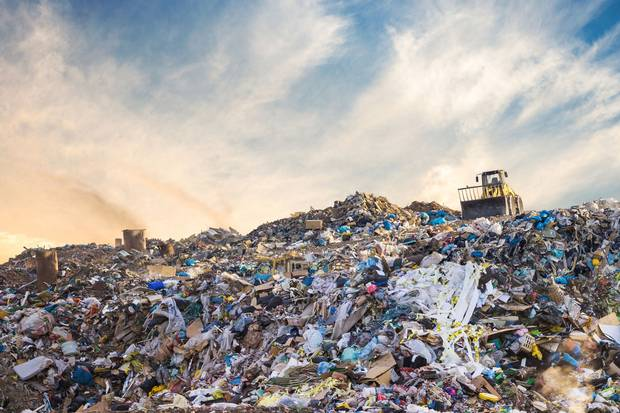 When food gets pitched into a landfill, it rots along with other garbage, starved of oxygen, and when it decomposes, produces methane, a greenhouse gas.