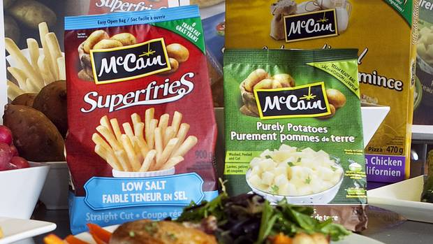 McCain Superfries pictured with other products.