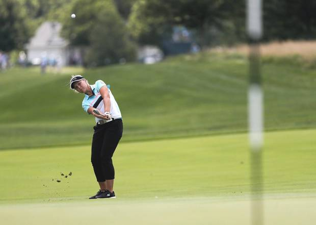 Brooke Henderson during the final round of the U.S. WomeN's Open Golf tournament in July.