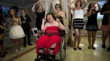 SickKids patients and their guests celebrate during the annual prom-inspired After Hours Exclusive Teen Event in Toronto, Ontario, Friday, July 11, 2014. The evening began with makeup and hair-styling before the event, followed by a fun night of dancing, snacks and games. (Kevin Van Paassen For The Globe and Mail)