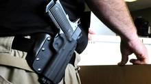 An Ed Brown 1911 .45-caliber pistol is seen in this file photo. (NICK OXFORD/NYT)