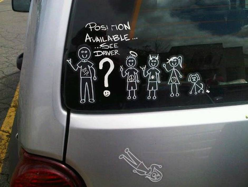 Spotted A Stick Figure Family Looking For A New Member