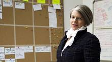 "Kirsten Forbes, Chief Operating Officer(COO) and co-founder of Vancouver-based Silicon Sisters Interactive, poses for a portrait in the company's ""war room"" Tuesday, January 31, 2012. (Rafal Gerszak/Rafal Gerszak for The Globe and Mail)"