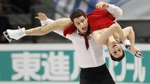 Canada's Tessa Virtue and Scott Moir skate during the ice dance free skate program at the International Skating Union (ISU) Grand Prix of Figure Skating finals at the Pavillon de la Jeunesse in Quebec City December 11, 2011. (MATHIEU BELANGER/REUTERS)