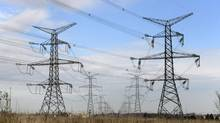 Hydro power lines and towers near Hwy 407 and Mississauga Rd. are photographed Nov 5 2013. (Fred Lum/The Globe and Mail)