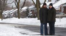 Nadine K. Mohammed and her husband Gordon Brown are seen near their Etobicoke, Ont. home on Thursday Dec. 27, 2012. (Tim Fraser for The Globe and Mail)