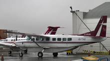An Air Tindi Cessna Caravan, similiar to one shown at the Yellowknife Airport, crashed outside of Lutsel K'e NWT on Oct. 4, 2011. It's the third plane crash in the Canadian Arctic since late August. (James MacKenzie/James MacKenzie/The Canadian Press)
