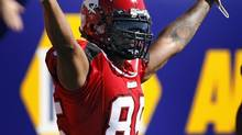 The Calgary Stampeders have released reciever Ken-Yon Rambo (Jeff McIntosh/The Canadian Press)