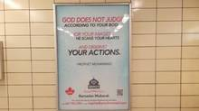 Group of Mercy launched a TTC campaign in Toronto to change notions that many Canadians may have of Muslims. (Handout)
