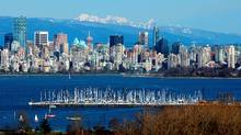 A general view of the Vancouver skyline across English Bay. (Doug Pensinger/Getty Images)