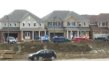 New homes under construction last month in Oshawa, Ont. (Nathan Denette/The Canadian Press)