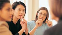 Women's networking connections are often about gaining social support and sharing their experiences. (THINKSTOCK)