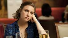 "This undated image released by HBO shows Lena Dunham in a scene from the series ""Girls."" (JOJO WHILDEN/AP)"
