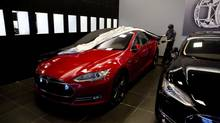 Tesla has raised car production by about 70 per cent in the past year. (Matthew Sherwood For The Globe and Mail)