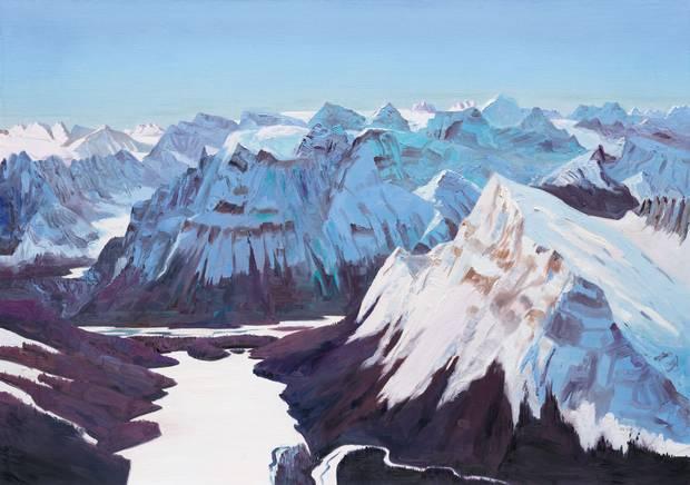 John Hartman, Fortress Lake, 2016, oil on linen, 48 x 68 inches.