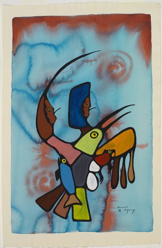 Stewart Migwans, Beaver Castor Spirit, 1999. West Bay First Nation, Manitoulin Island, Ont.