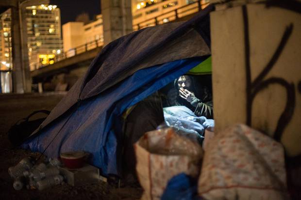 Jordan has been homeless for 20 years. Sleeping under the Gardiner Expressway, he said he'd rather brave the frigid cold than go to a shelter or a drop-in.