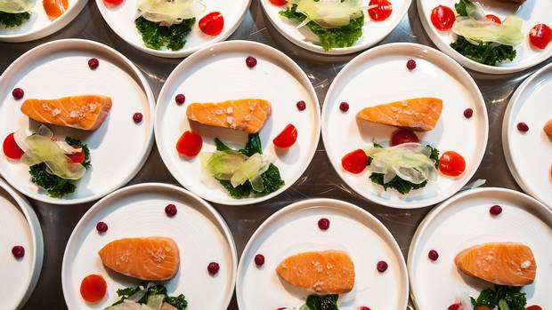 Plates prepared for RAW:almond 2015.