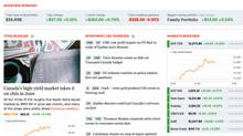 Globe Investor portfolio tools screenshot. (The Globe and Mail)