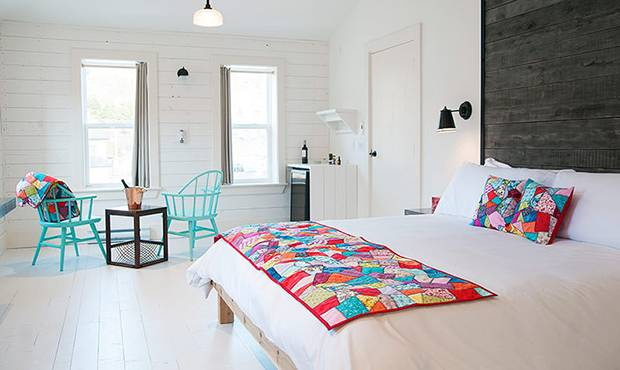 A room at the Mallard Cottage Inn, a new boutique hotel in St. John's.