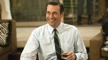 "Jon Hamm as advertising executive Don Draper in a scene from the fifth season premiere of ""Mad Men."" (Ron Jaffe/AP/AMC)"