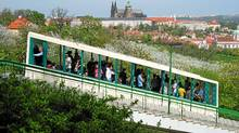 Ride the funicular at Petrin Hill.