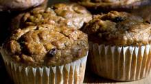These Banana Bran Muffins make use of whole-wheat flour and get a nutritional boost from the addition of high-fiber cereal. (LARRY CROWE/AP)