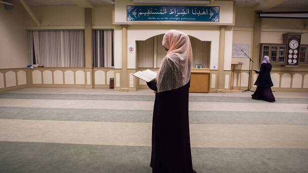 A Muslim woman reads the Koran at the Al Huda Institute Canada, in Mississauga on December 11, 2015. Some students credit the institute with giving them the knowledge and self-confidence to seek spiritual awakening.