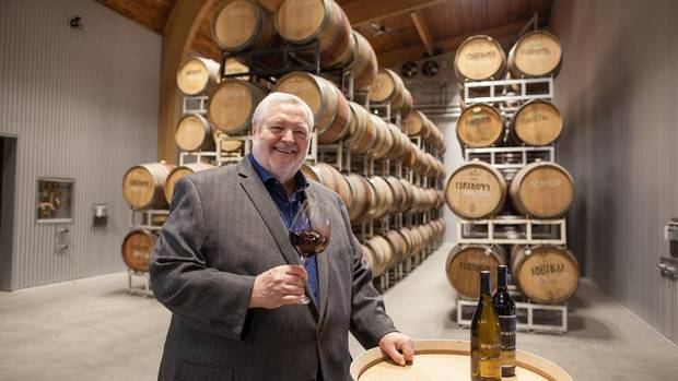 Harry McWatters lifts a glass at Time Estate Winery.