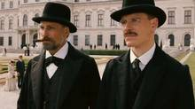 "Screen grab from the online trailer for the film ""A Dangerous Method,"" starring Viggo Mortensen, Michael Fassbender and Keira Knightly"