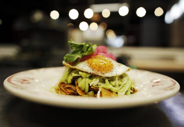 One of Mr. Gama's favourite creations at Clementine is the duck chilaquiles.
