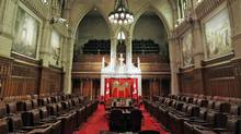 The Senate chamber sits empty in Ottawa on Sept. 16, 2010. (Chris Wattie/Reuters/Chris Wattie/Reuters)