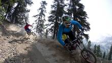 Rip along a trail in the Whistler mountain bike park. (JONATHAN HAYWARD/THE CANADIAN PRESS)