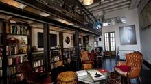 Industrial designer Marco Pecota's library in Toronto's Junction neighbourhood. (Deborah Baic/The Globe and Mail)