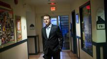 Adrian Dix paces in the hallway in Vancouver, British Columbia, Wednesday, September 18, 2013. (Rafal Gerszak For The Globe and Mail)