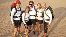Running across the Sahara, from left: Colin Nanka, Sandy Johnson, Gavin Lucas, Alison Simpson and Stéfan Danis. (Erin Houghton for The Globe and Mail/Erin Houghton for The Globe and Mail)