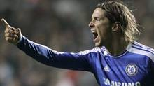 Chelsea's Fernando Torres vents his frustration at a teammate during the English Premier League soccer match between Swansea City and Chelsea at the Liberty Stadium in Swansea, Wales, Tuesday, Jan. 31, 2012. (AP Photo/Matt Dunham) (Matt Dunham/AP)