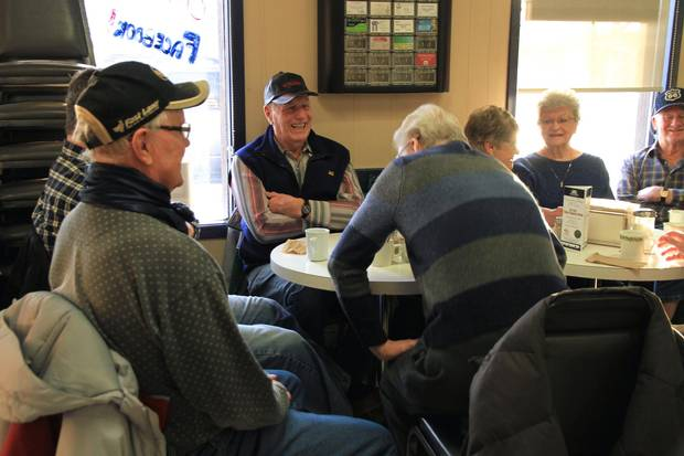 The Saturday morning coffee group, Howard's Bakery & Deli, Maple Creek (1)