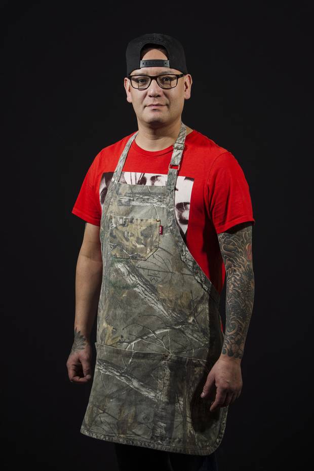 Chef Shane Chartrand at Sage restaurant in Enoch Cree First Nation, Alberta on Tuesday, January 30, 2018.