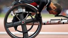 Canadian Brent Lakatos won a gold medal in the men's T53 400-metres on Sunday at the world paralympic athletics championship. (file photo) (EDDIE KEOGH/REUTERS)