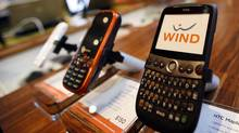 Wind Mobile phones are on display at the first Wind store to open at 207 Queen's Quay West in Toronto. (Deborah Baic/Deborah Baic/The Globe and Mail)